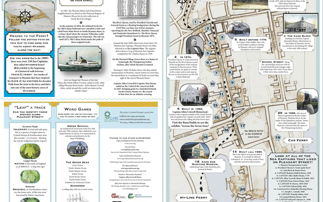 2015 Hyannis Sea Captains' Row: Walking Trail Map