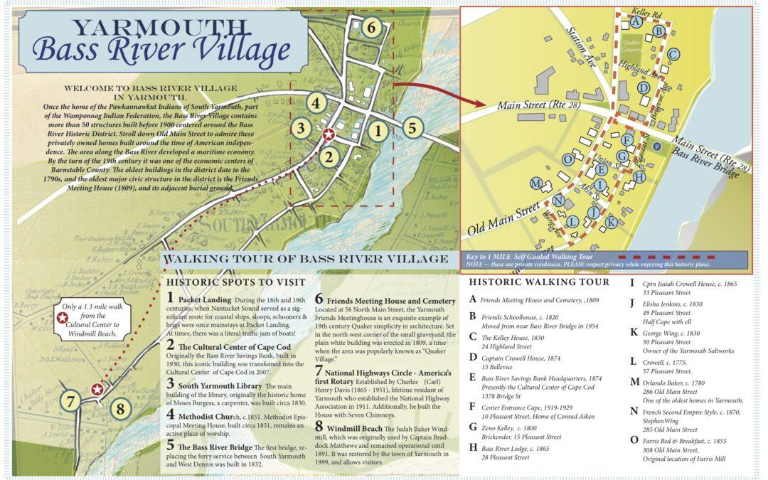 Bass River (Yarmouth) Village Walking Map